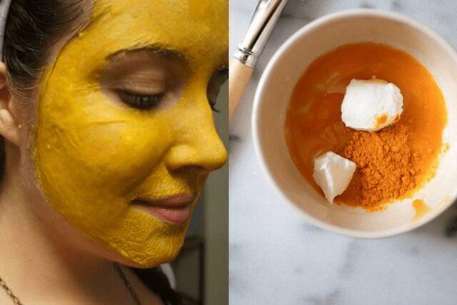 Masque au Curcuma :efficace pour résoudre les problèmes cutanés et réduire les rides